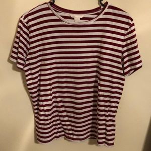 H&M basic red and white striped t-shirt (small)